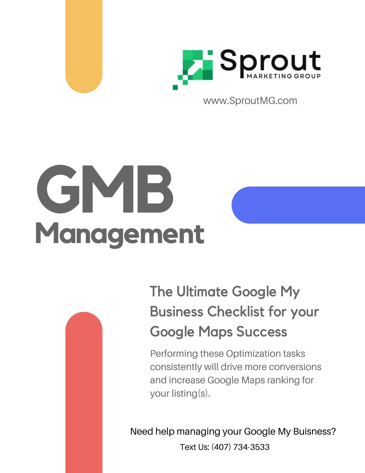 Google My Business Ultimate Checklist Front Page Image